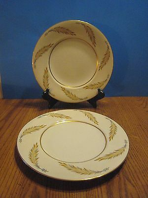 """Vintage Norleans Meito China Courtley Pattern 2 Dinner Plates 10 1/2"""" Vgc"""
