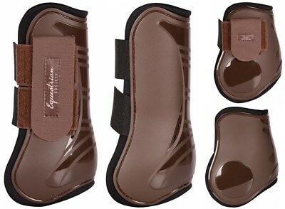 Harry's Horse Open Front Horse Boot Set of 4 - Seal Brown Cob Harry's Horse