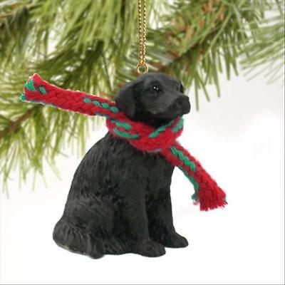 Flat Coated Retriever Dog Tiny One Miniature Christmas Holiday ORNAMENT