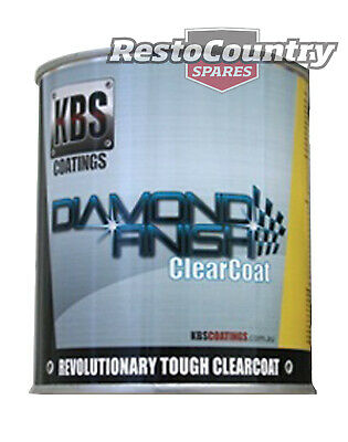 KBS Coatings Diamond Finish Clear Coat One 1 Litre Car Boat Bike Paint Protect