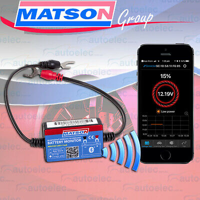 Matson Wireless Bluetooth Battery Monitor Sense System Caravan Camper 6 12V Volt