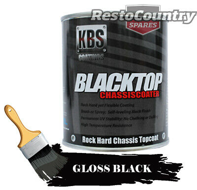 KBS Chassis Coater BlackTop 4 Litre GLOSS BLACK Car Truck paint rust four