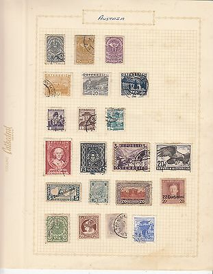 AUSTRIA EARLY COLLECTION used on old album Page MINT/USED NICE!!..