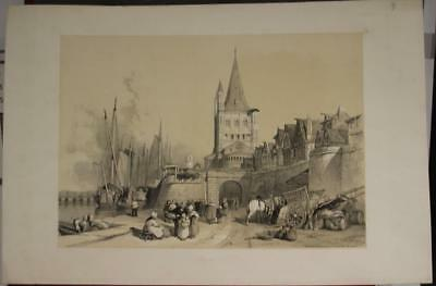 Cologne (Kõln) Germany 1838 Stansfield Antique Original Lithographic City View