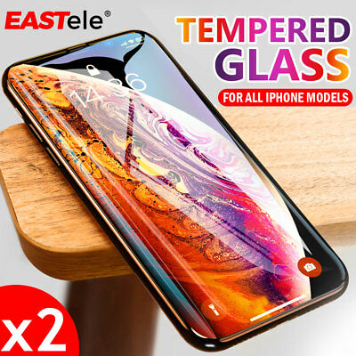 2x Apple iPhone XS MAX XR 8 Plus GENUINE EASTele Tempered Glass Screen Protector