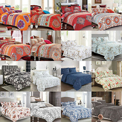 Quilt Duvet Doona Cover Bedding Set - Queen Super King Size Bed M10