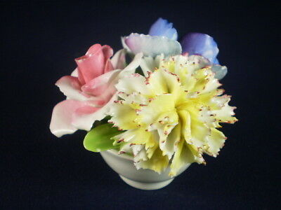 Crown Staffordshire Roses & Carnation Small Ornament
