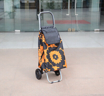 E133 Rugged Aluminium Luggage Trolley Hand Truck Folding Foldable Shopping Cart