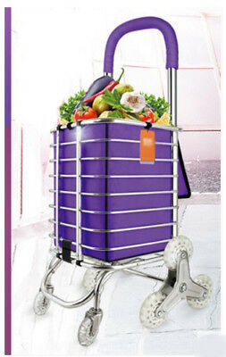 E67 Rugged Aluminium Luggage Trolley Hand Truck Folding Foldable Shopping Cart
