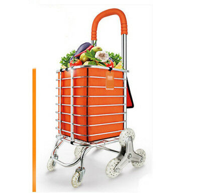E75 Rugged Aluminium Luggage Trolley Hand Truck Folding Foldable Shopping Cart