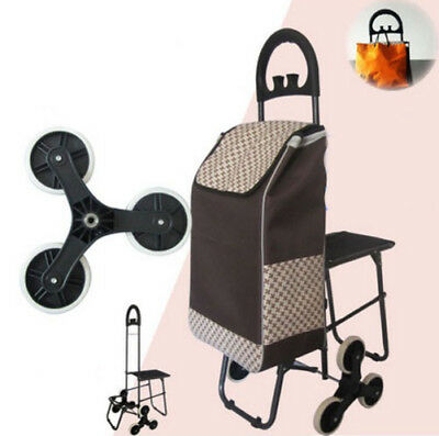 E194 Rugged Aluminium Luggage Trolley Hand Truck Folding Foldable Shopping Cart
