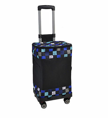 E147 Rugged Aluminium Luggage Trolley Hand Truck Folding Foldable Shopping Cart