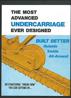 IH INTERNATIONAL UNDERCARRIAGE TD25 POWER SHIFT 8 page foldout sales brochure