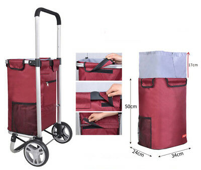 E95 Rugged Aluminium Luggage Trolley Hand Truck Folding Foldable Shopping Cart