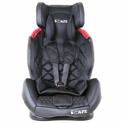 iSafe Multi Recline Isofix Car Seat Carseat Raven Black Group 1 2 3 9kg to 36kg