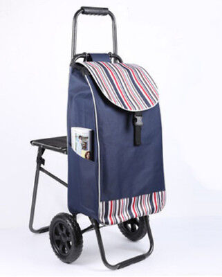 E167 Rugged Aluminium Luggage Trolley Hand Truck Folding Foldable Shopping Cart