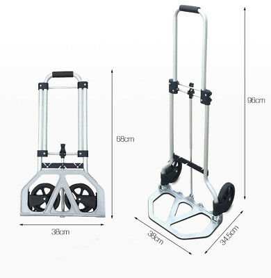 E19 Rugged Aluminium Luggage Trolley Hand Truck Folding Foldable Shopping Cart