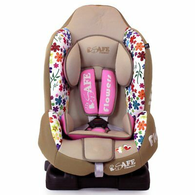 iSafe Multi Recline Isofix Car Seat Carseat Flowers Group 1 9mths- 4yrs