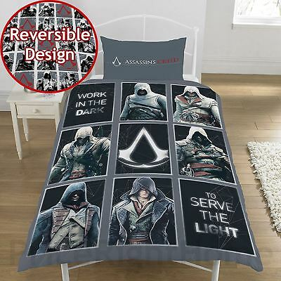 Assassin's Creed Legacy Single Duvet Cover Set Bedding Childrens - 2 In 1 Design