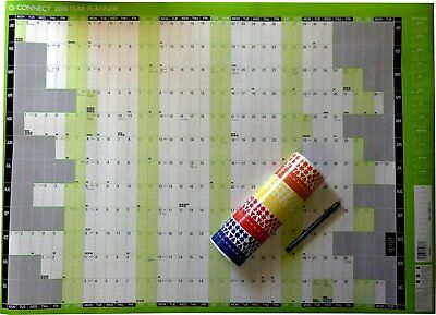 A1 Large 2018 Year Wall Planner Unmounted Calendar 855 x 610mm (KFYPU18)