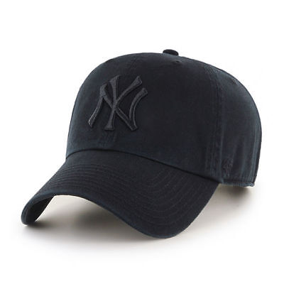 MLB New York Yankees NY Cap Basecap adjustable Baseballcap cleanup full black