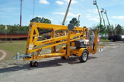 Haulotte 4527A 51' Height Towable Boom Lift, 27' Outreach, 4200 lbs,In Stock Now