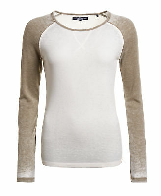 New Womens Superdry Factory Second Optic/Washed Khaki