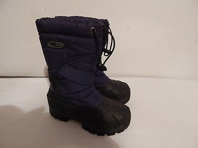 1ec13973a Boys Toddler Snow Winter boots Size 11 CHAMPION BLue BLack Veclrow Straps