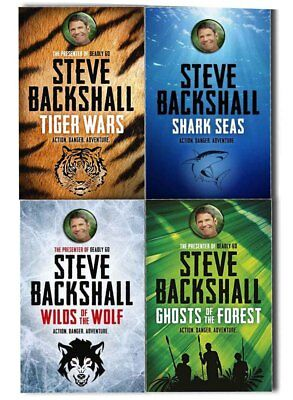Steve Backshall Falcon Chronicles 4 Books Collection Pack Set -Tiger Wars, Shark
