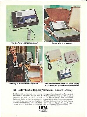 Old IBM Executary Dictation Equipment Ad