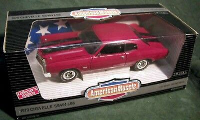 ERTL 1/18 Jack Reacher's 1970 CHEVY CHEVELLE SS 454 LS6 RED 7486 film Muscle'70