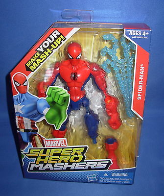 SPIDERMAN MARVEL SUPER HERO MASHERS  6 inch FIGURE Mint In Box