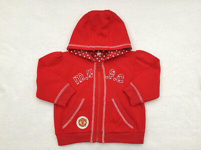 Manchester United FC Girls Hooded Top Age 18-23 Months