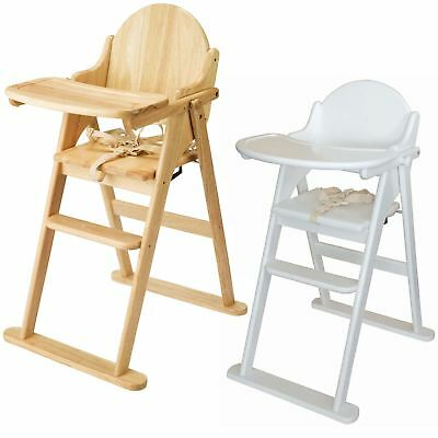 East Coast FOLDING HIGHCHAIR SOLID WOOD Baby/Child/Toddler Feeding Accessory BN