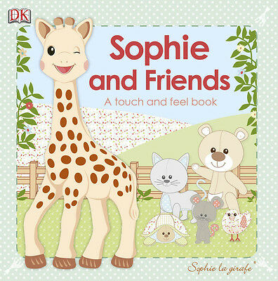 Vulli SOPHIE THE GIRAFFE SOPHIE AND FRIENDS TOUCH AND FEEL BOOK Reading Gift BN