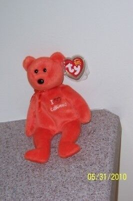 I LOVE CALIFORNIA  Ty Beanie Baby MINT WITH MINT TAGS