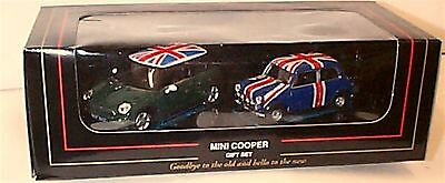 Mini Coopers Gift Set New & old 1-43 scale mib