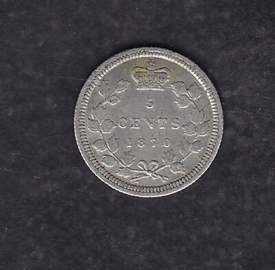 1870 Wr Canada Silver 5 Cents