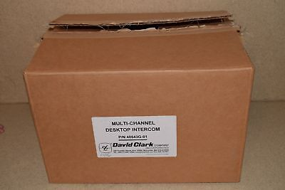 == David Clark Multi-Channel Desktop Intercom 40543G-01 / 40425G-01- New (A1)