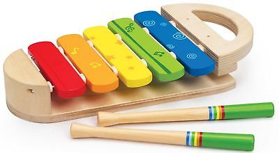 Hape RAINBOW XYLOPHONE Musical Instrument Learning/Wooden Toy/Gift Baby BN