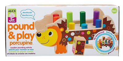 Alex Toys POUND AND PLAY PORCUPINE Wooden Toddler Pounding Toy BN