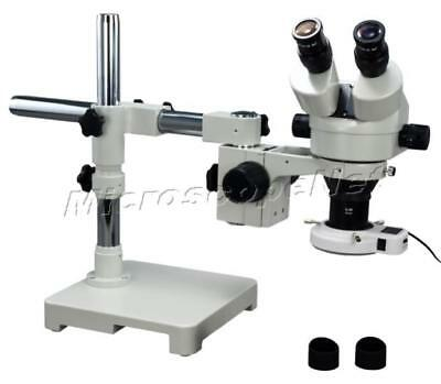 2X-45X Boom Stand Zoom Stereo Microscope+54 Ring Light