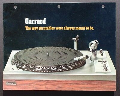 Vintage Garrard (Ct 25, GT 15, GT 35, GT 55) Turntable SALES BROCHURE