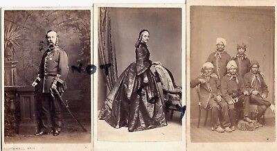 3x Carte De Visite Surgeon Major C F Warneford Indian Army Bengal Wife & Servant