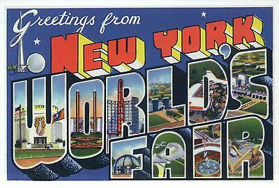 Greetings from new york worlds fair ny exposition modern large greetings from new york worlds fair ny exposition modern large letter postcard m4hsunfo