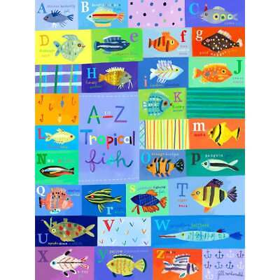 Oopsy daisy 'A-Z Tropical Fish' 30 x 40-inch Stretched Canvas Wall Art