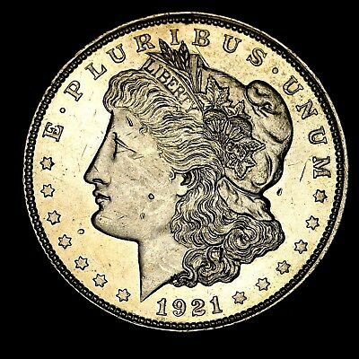 1921 P ~**ABOUT UNCIRCULATED AU**~ Silver Morgan Dollar Rare US Old Coin! #C30