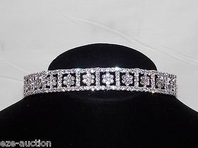 Stunning Bridal Rhinestone Crystal Wedding Flower Tiara Crown - U.S.A