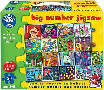 Orchard Toys BIG NUMBER JIGSAW Kids/Children's 20Pc Education Floor Puzzle BN
