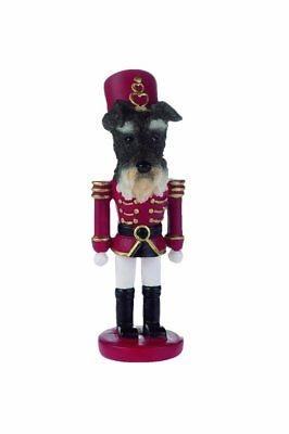 SCHNAUZER UnCropped Dog Soldier Holiday NUTCRACKER ORNAMENT